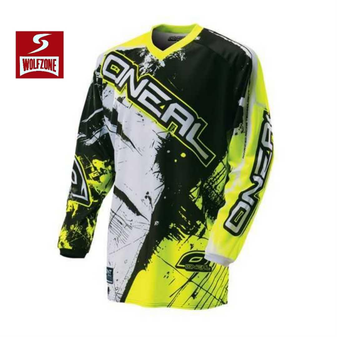 25cfe5185 Wolf Zone Spandex ONEAL Longsleeve Men s Sportswear Quick DryFortress  Cycling Mountain Bike Motocross Motorcycle MTB