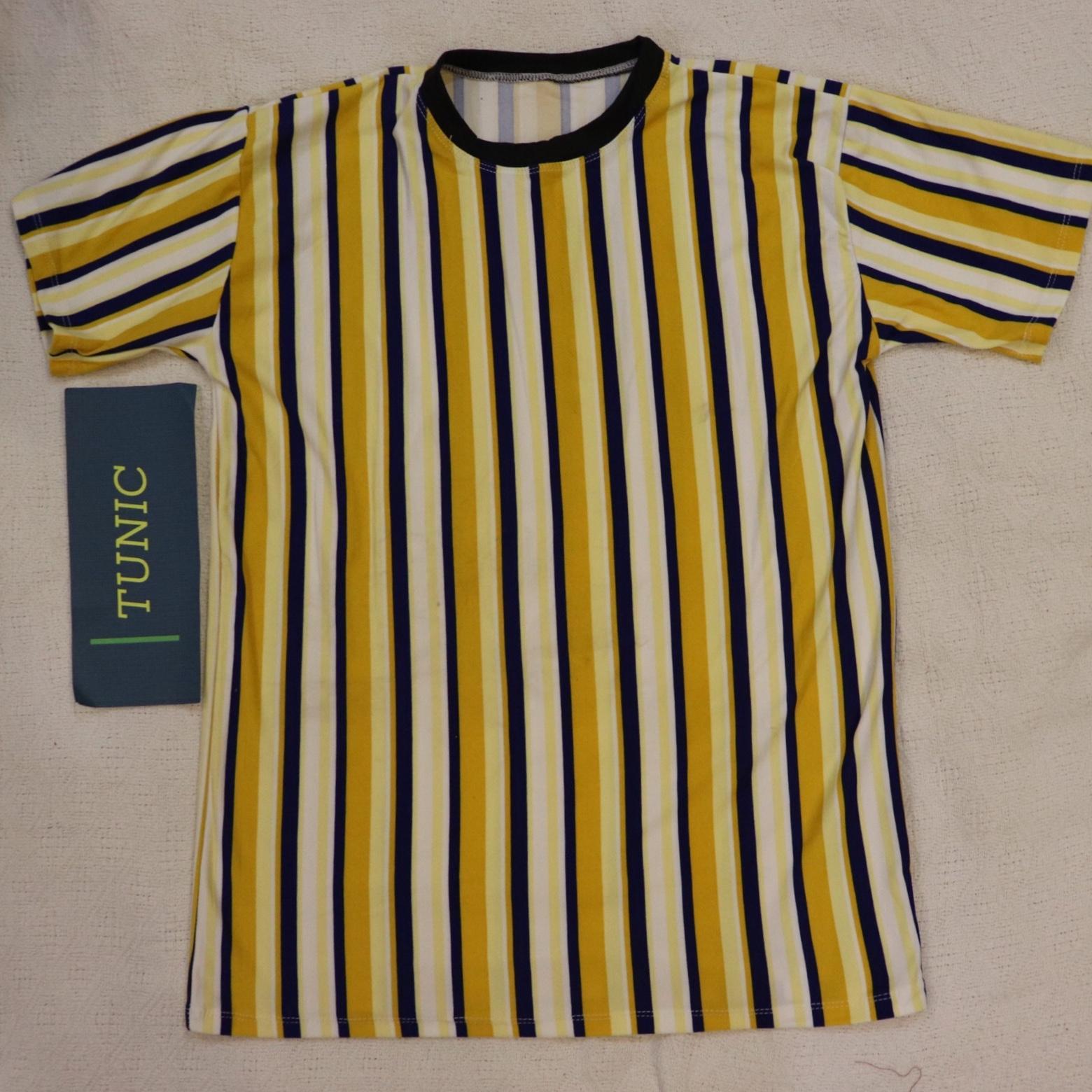 cf545371cf1 Men Shirt Crew T-Shirt Casual Shirt Different Stripes Shirt Tees Plain  Colored T-