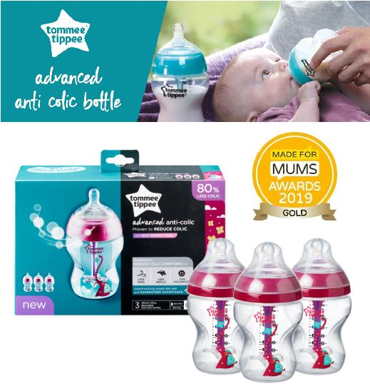 260 ml P-Tommee Tippee Decorated Anti-Colic Bottles 3 count
