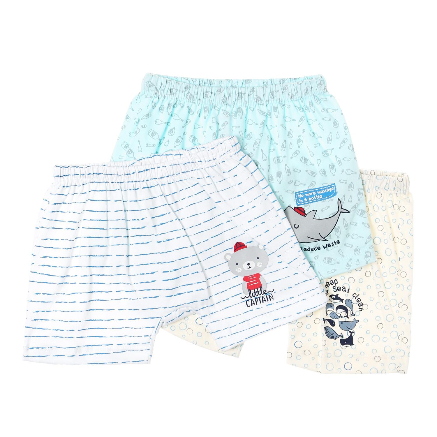 Hush Hush Baby Boys 3-Piece Little Captain Drop-Crotch Shorts Set By The Sm Store.