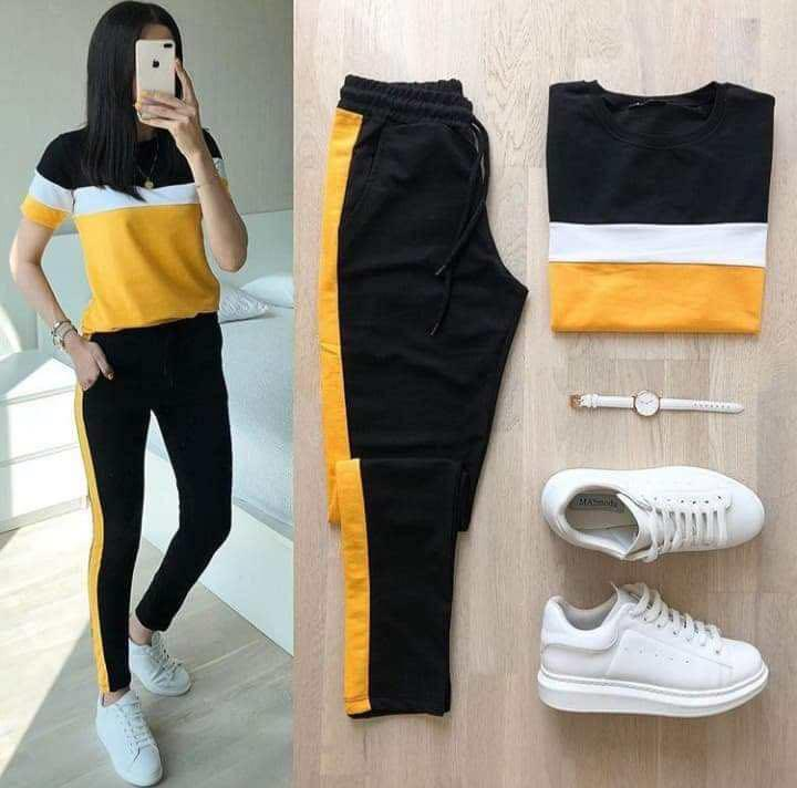 Ootd Formal Stripe tops with lining pants terno for women