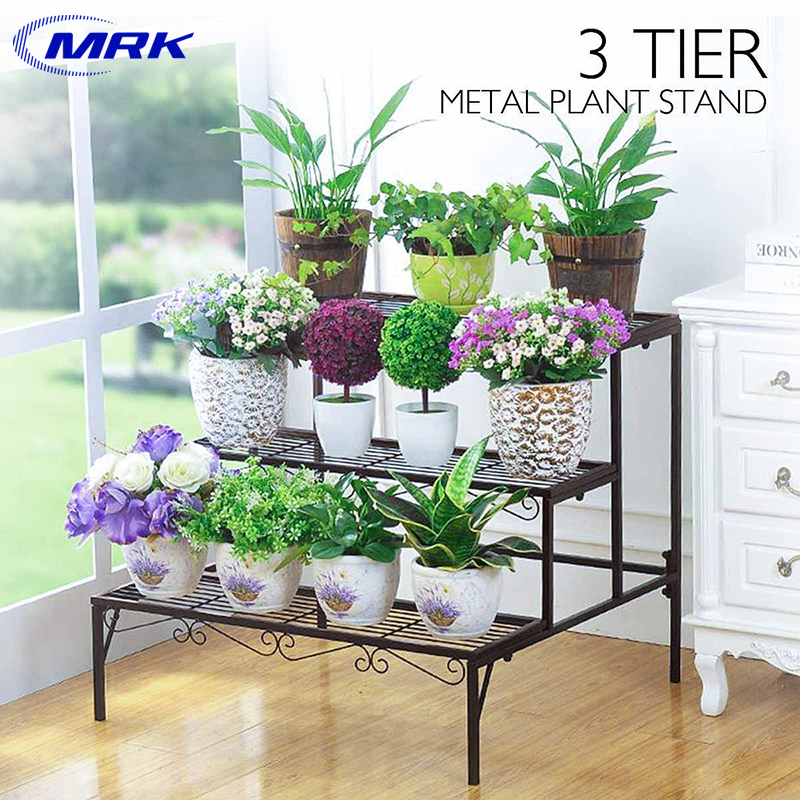 Tiered Plant Stand Outdoor Metal 3 Tier Stands For Multiple Plants Ladder Potted Indoor Shelf Holder Rack Lazada Ph