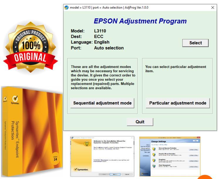 EPSON L3110 Resetter + Symantec Endpoint Protection 14 (Antivirus)