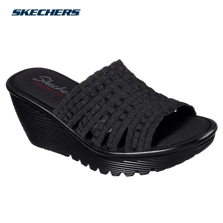 66f0974bd7d3 Skechers Women Parallel - Mornin Stretch Sandals - Fashion Footwear  38661-BBK (Black)