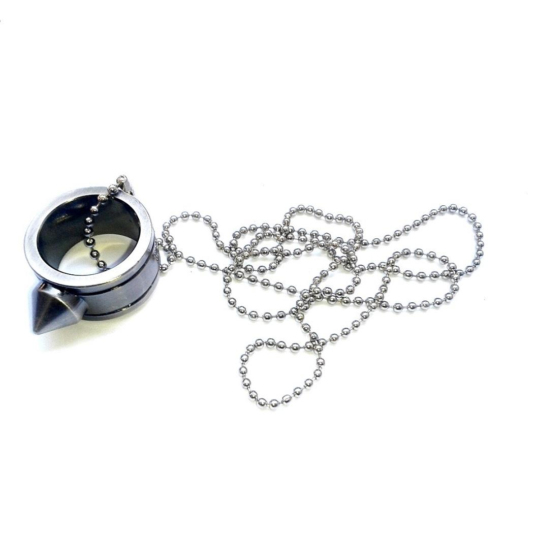 Necklace With Stainless Steel Ring 0113 (silver) By Emerison Merchandise.