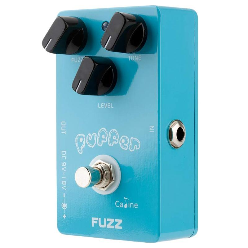 Caline CP-11 Puffer Fuzz Electric Guitar Effects Pedal Blue with Aluminum Alloy Housing True Bypass Design Guitar Accessories Malaysia