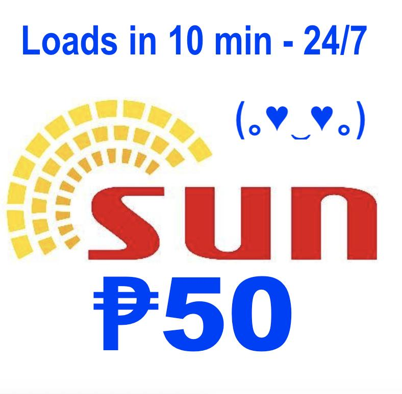Sun Cellular Regular Mobile Load 50 Pesos By Acts29.