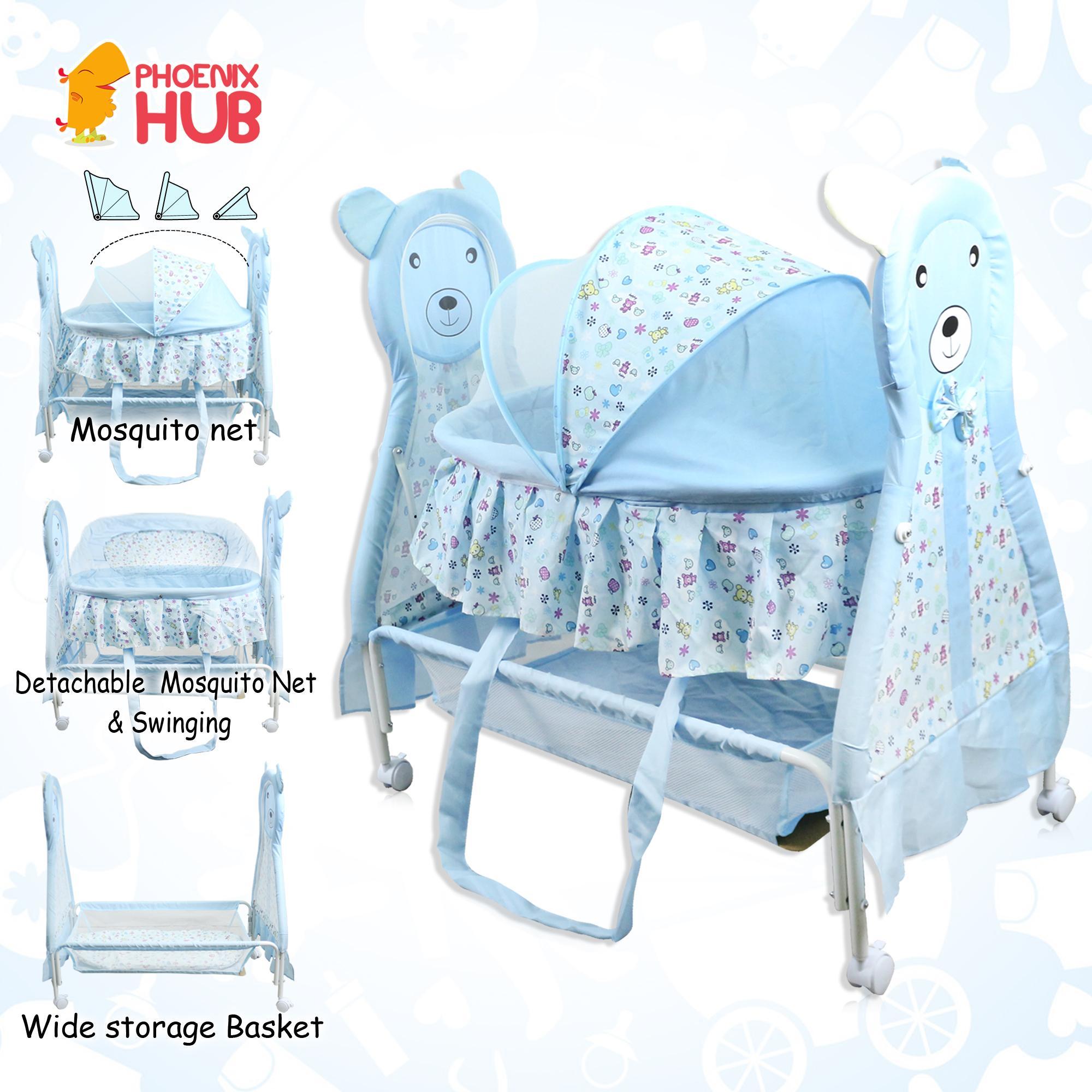 82403638842 PhoenixHub Baby Cradle Swing Rocker HBB-210 Baby Bed Baby Carriage Bed Crib