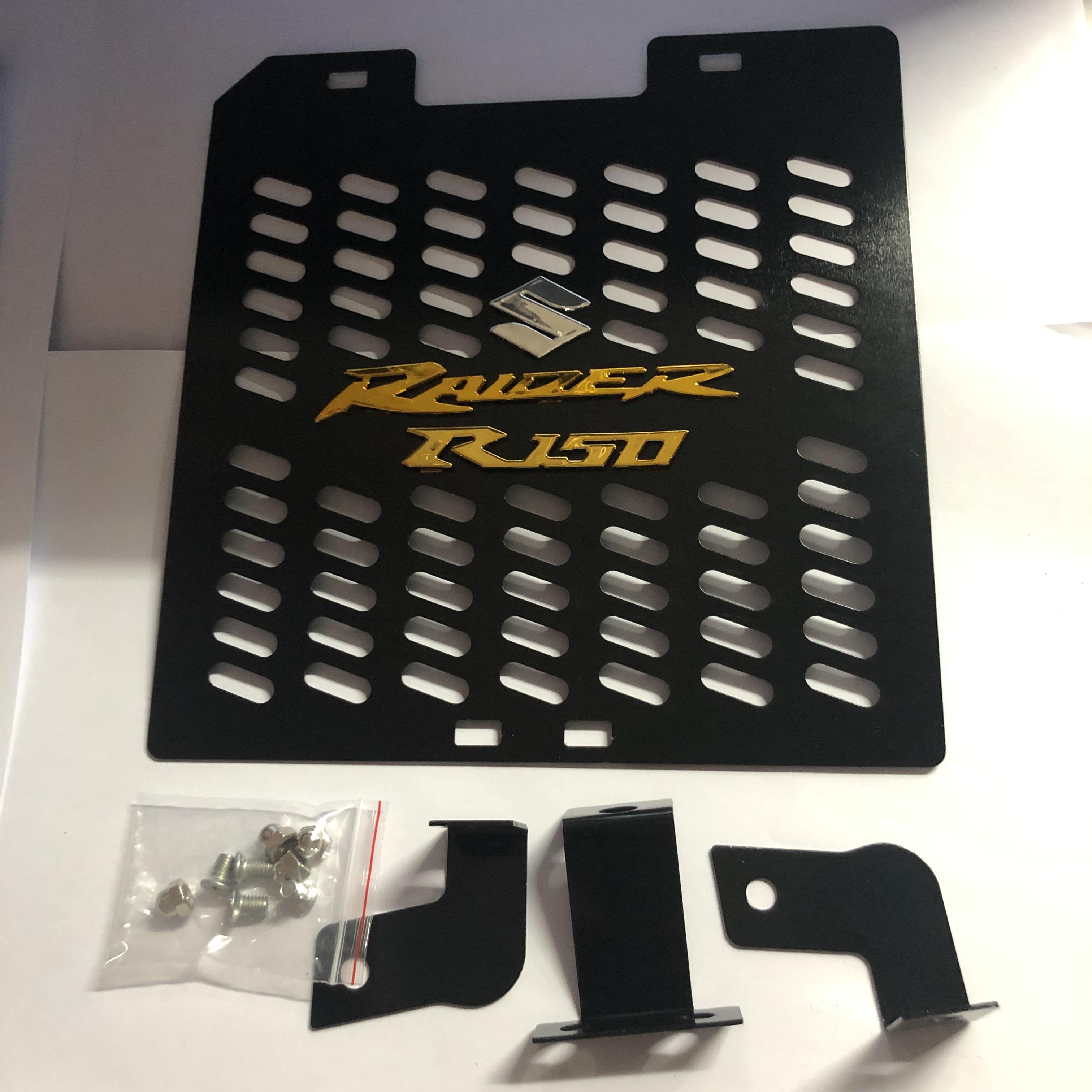 J2 RACING MOTORCYCLE RADIATOR COVER RAIDER150 FI (BLACK)ALLOY
