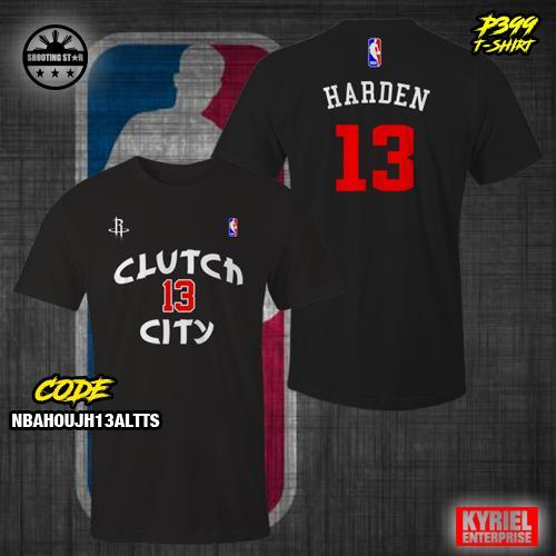 buy online 085f9 c50e7 NBA Houston Rockets Clutch City James Harden 13 Alternate T-Shirt