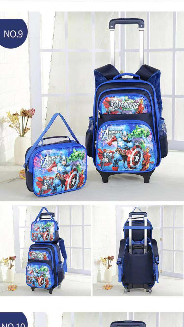 06ea2b63c93 Topstar Trolley school bag 2in1bag 2( Lightning Wheels )Trolley Backpack  Wheeled Bag lunch bag