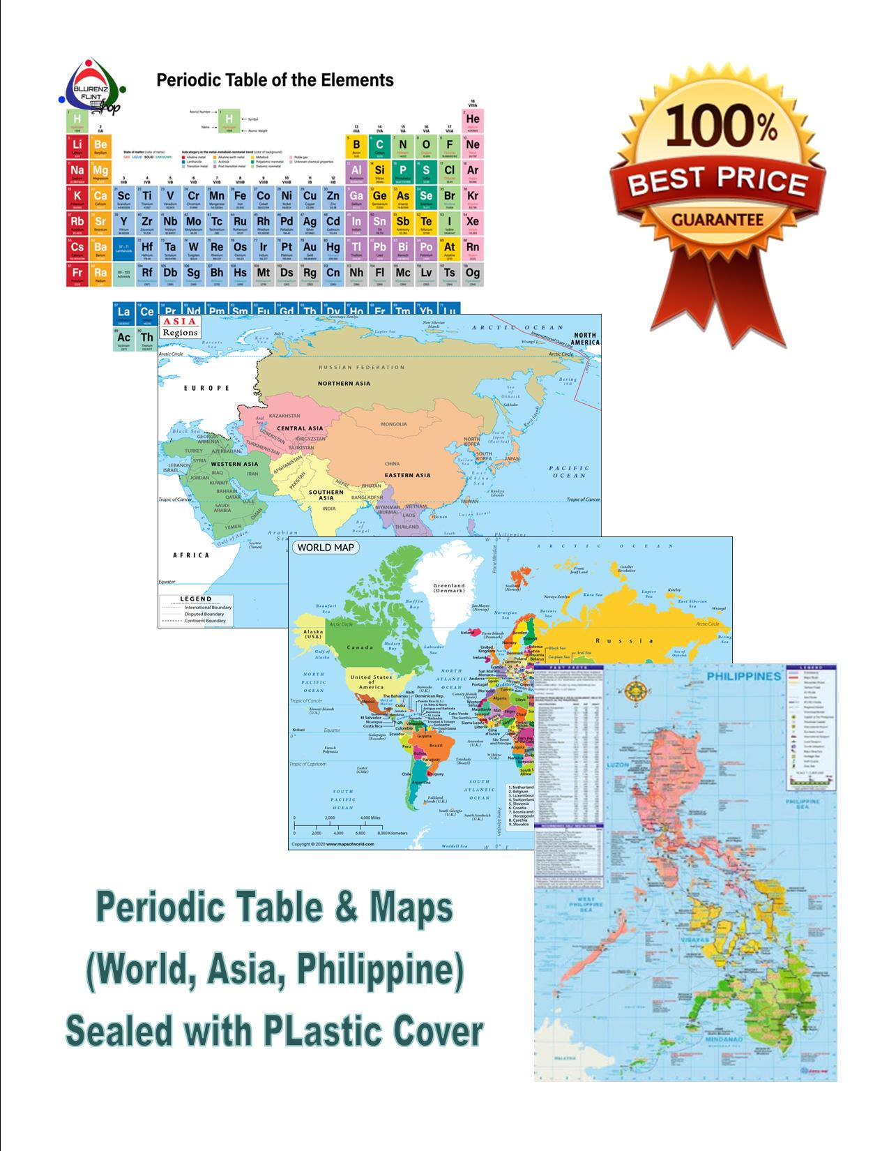 Picture of: Periodic Table Of Elements Maps Philippine Asia World Set Lazada Ph
