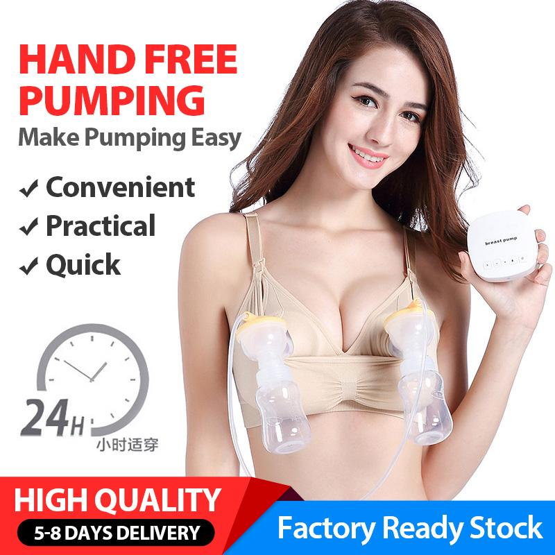 4c0db0522ab Hand Free Pumping Nursing Bra Pregnant Breastfeeding Underwear No Underwire