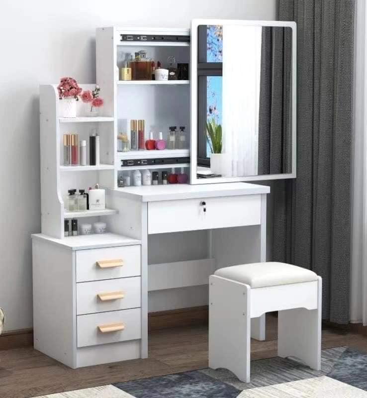 European Style Vanity Dresser Table, Makeup Vanity No Mirror