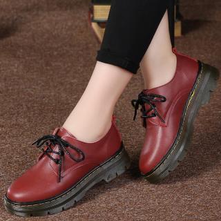 Giày Da Instagram Giày Một Lớp Dễ Phối Học Sinh Phong Cách Hàn Quốc Màu Đen Đế Bằng Phong Cách Học Đường Kiểu Anh Cho Nữ Ulzzang Giày Oxford thumbnail