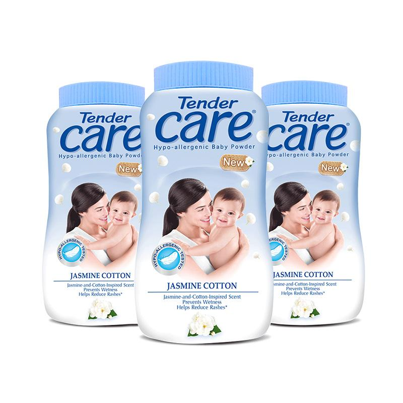 Tender Care Jasmine Cotton Hypo-Allergenic Baby Talc 100g, Pack Of 3 By Lazada Retail Tender Care.