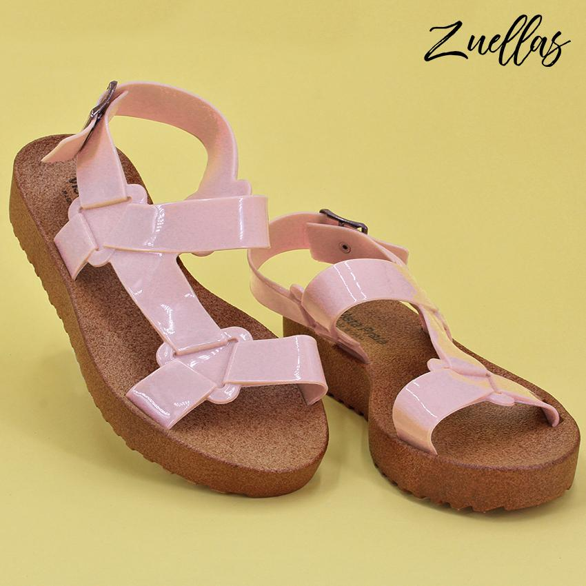 90cc30049c0e Zuellas Women s Zofia Open Toe Soft Casual Flat Sandals (LC-1802)