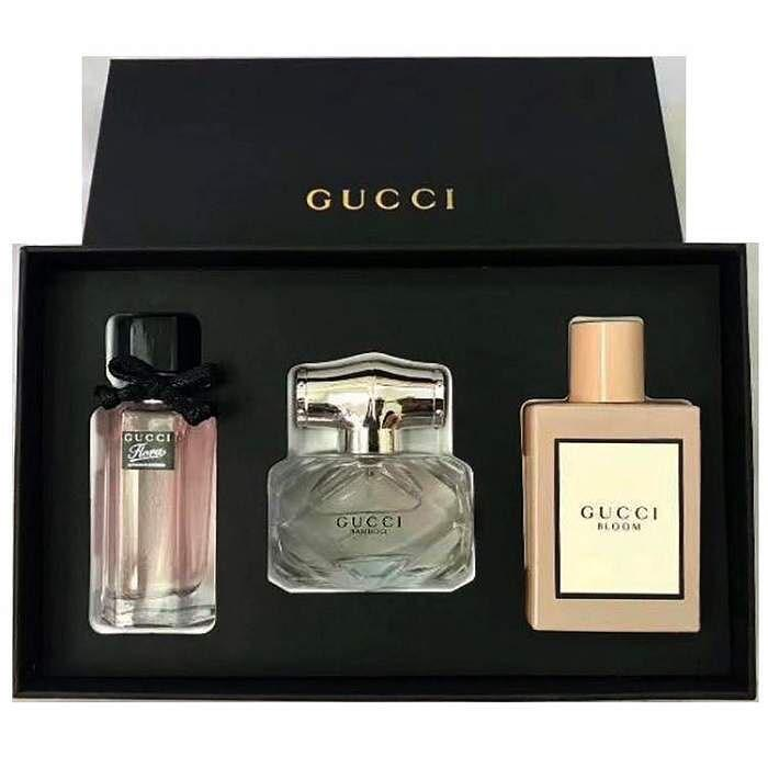 Gucci PERFUME 3IN1 SET  30ml Gucci Flora 30ml Gucci Bamboo 30ml Gucci Bloom (AUTHENTIC OVERRUN PERFUME FROM ORIGINAL MANUFACTURER)