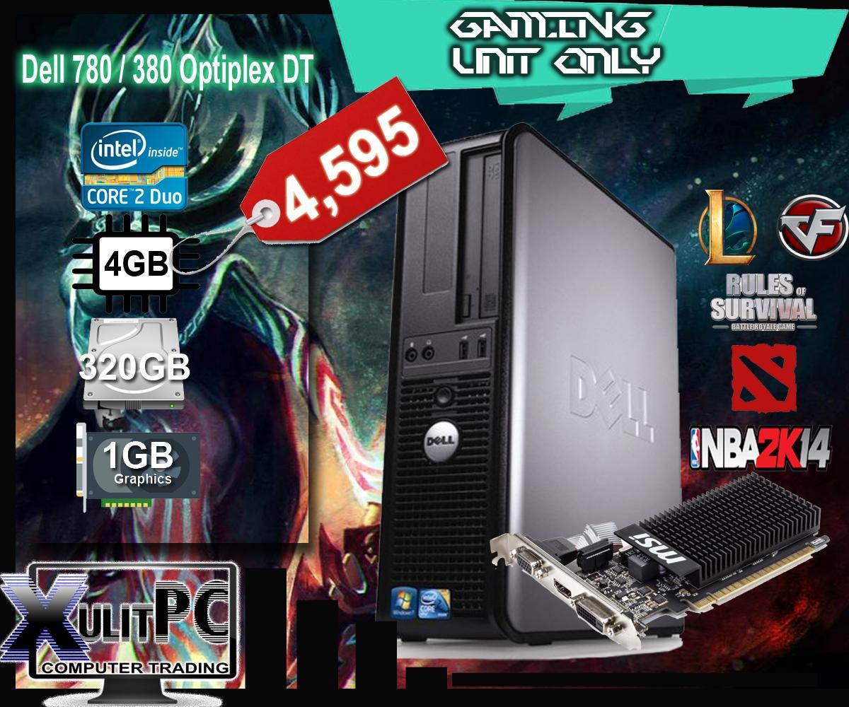 Dell Optiplex 780 DT (Entry Gaming) Dual Core 2-8-3 2Ghz 4GB DDR3 RAM, No  DVDROM, 250GB HDD 1GB Videocard Slim Desktop Unit Only