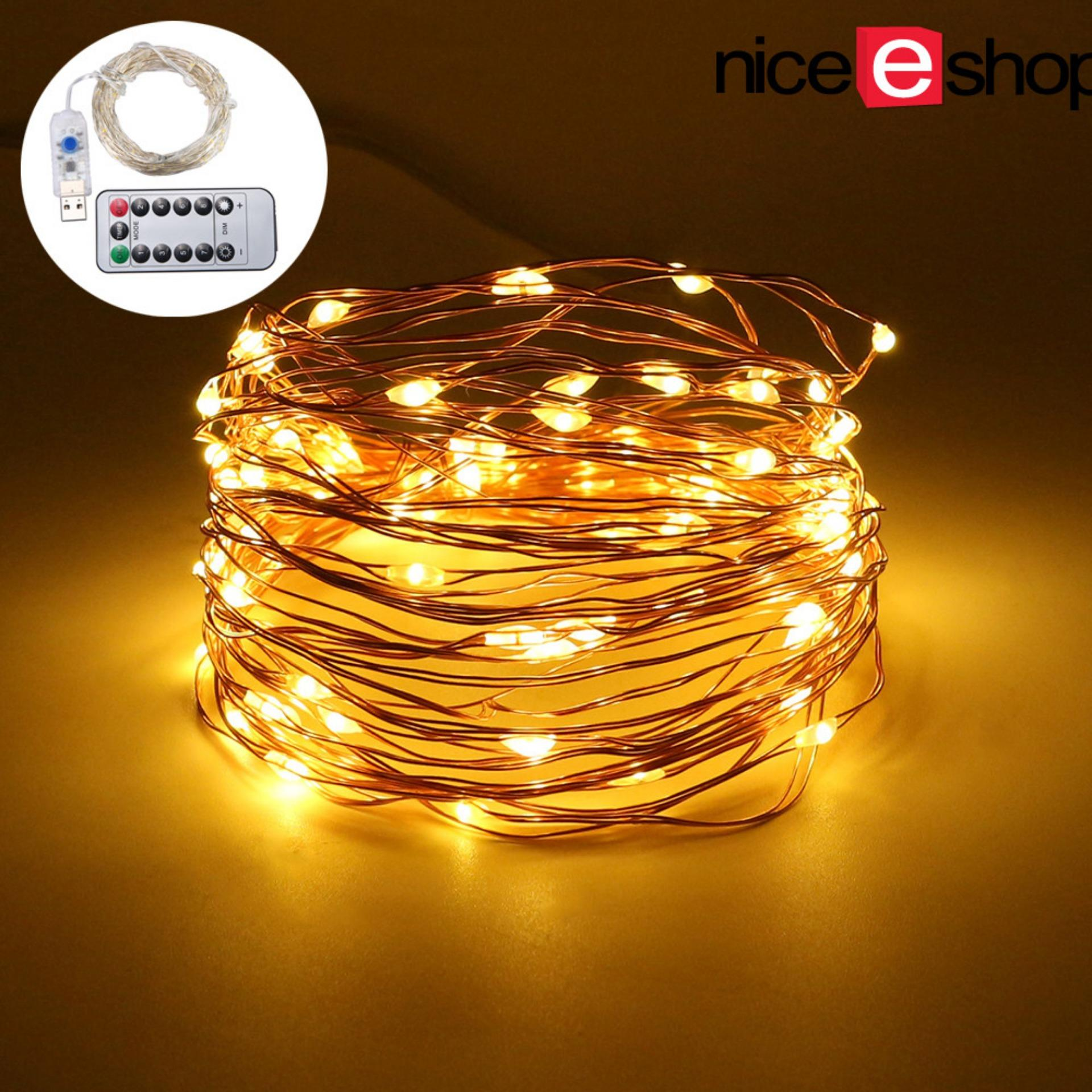 niceEshop LED Fairy String Lights Indoor And Outdoor 10m/ 33ft 100 LEDs Powered Via USB