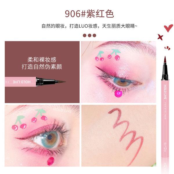 hold live liquid eyeliner pen Li Jiaqi recommends no blooming waterproof beginners brown fine head very fine color giá rẻ
