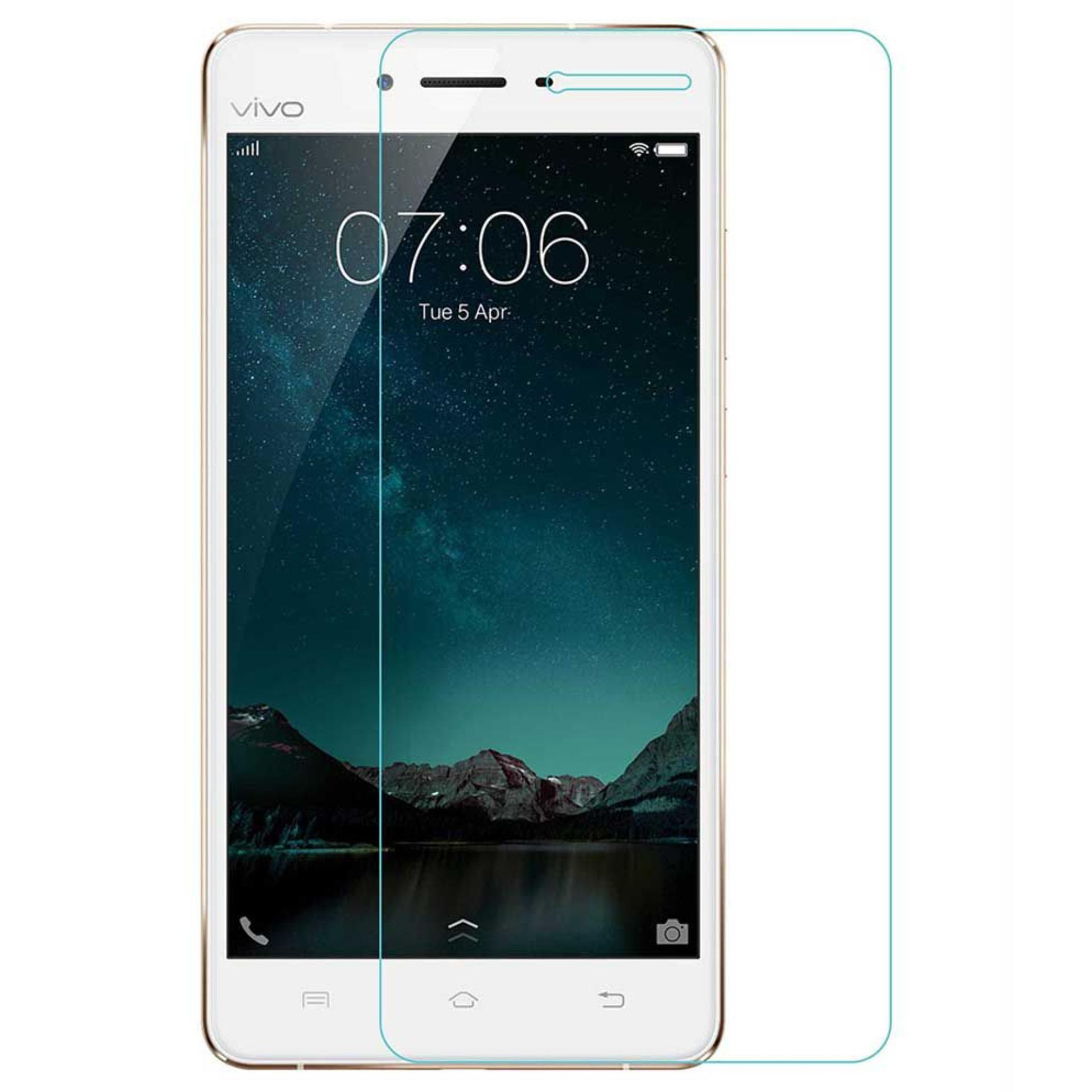 Tempered Glass Protector For VIVO V3 MAX ( transparent ultra-clear, scratch-proof