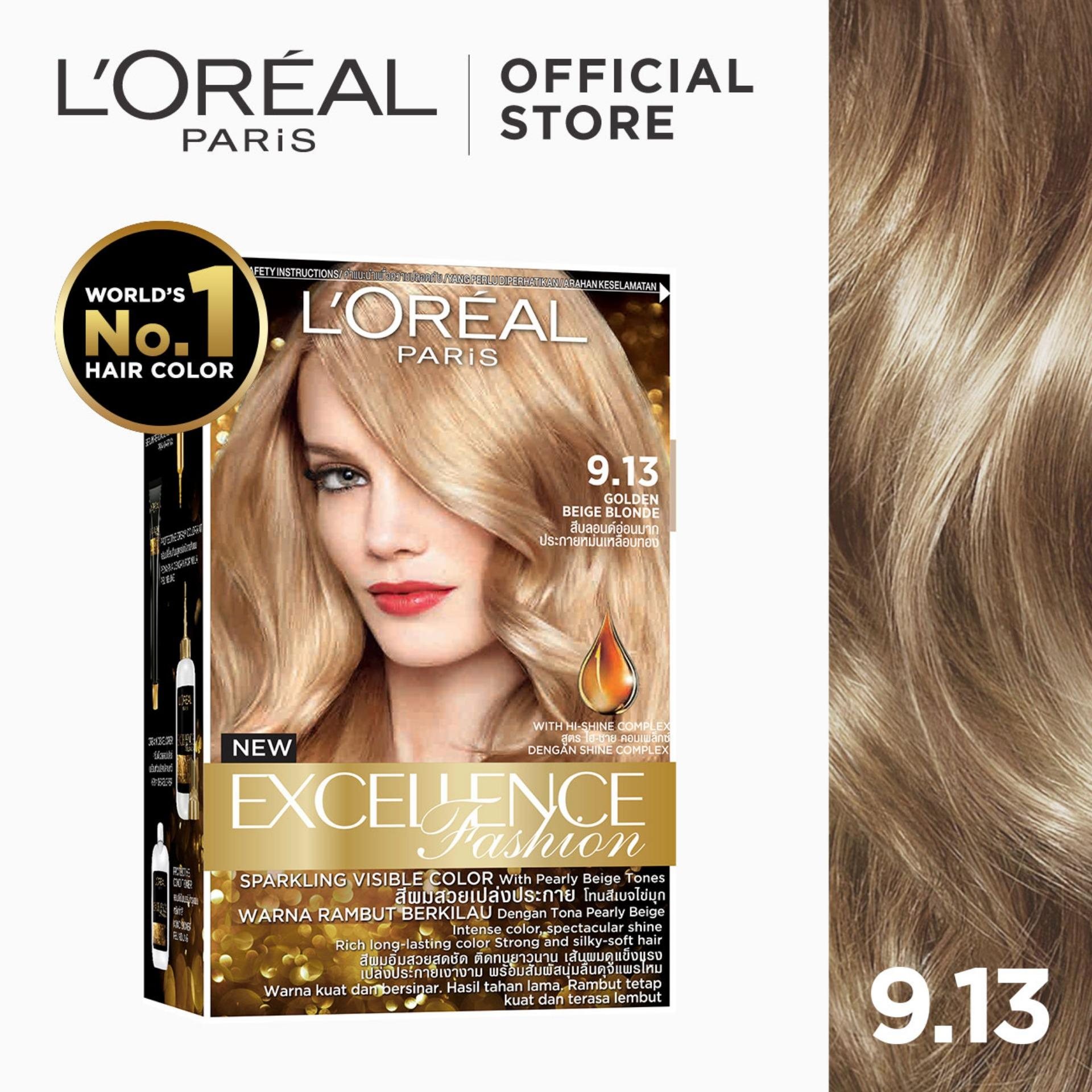 Excellence Fashion Parisian Gold [World's No 1] by L'Oreal Paris [w/  Protective Serum & Conditioner]