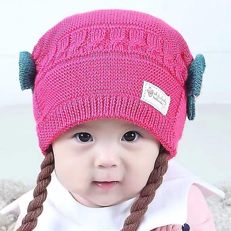 a4eef38da 3-24 months--Smart Baby Korean Fashion MZ4082 Cute Yarn Bernat New Toddler  Infant Child Baby Boys Girls Soft Cotton Knitted Trend Hair Hat Hat Gift
