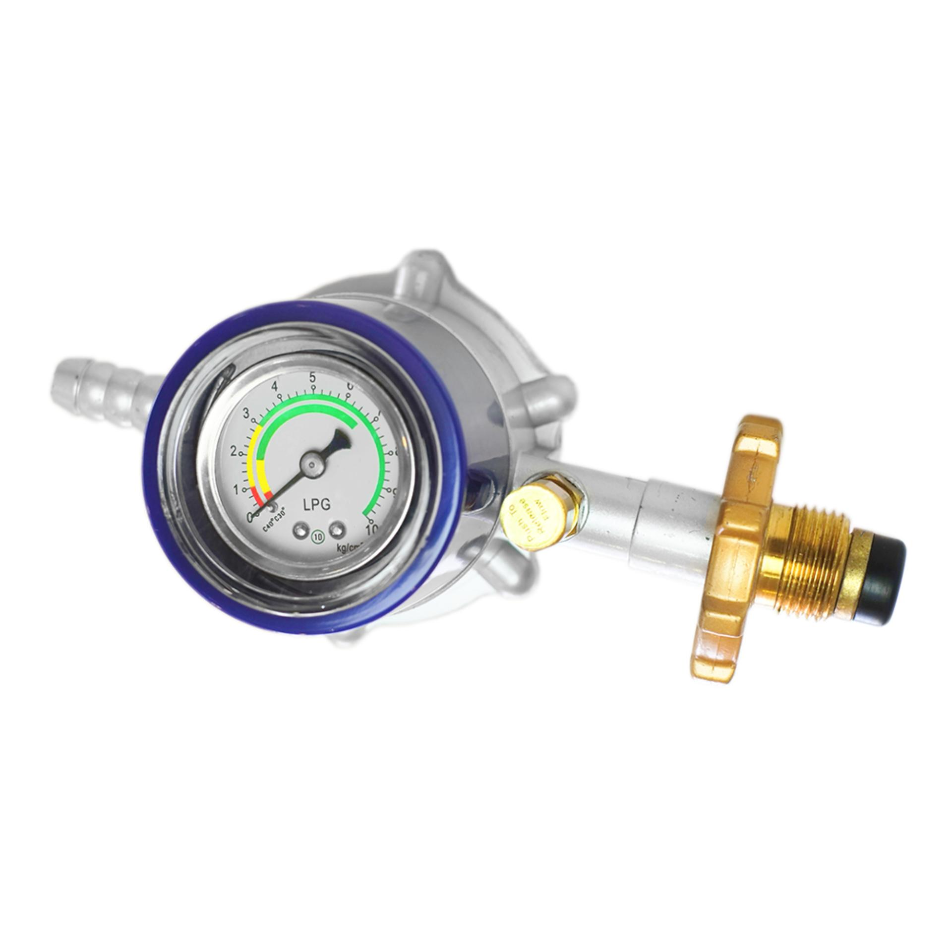 Icook Ic-777 Screw Mount Lpg Regulator W/ Anti-Leak Feature And Pressure Gauge (de-Roskas) By Citideals.