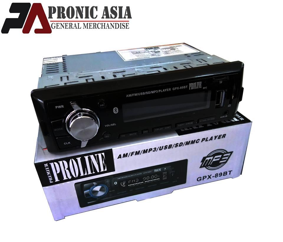 Proline GPX-89BT USB/SD/MP3/BT Car Stereo