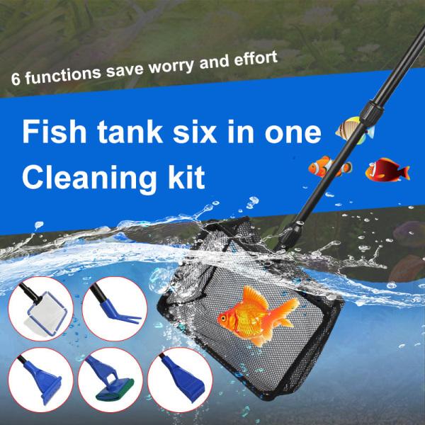 Bể Cá Warmlife Complete Bộ Vệ Sinh Sáu Trong Một Hồ Cá Xử Lý Thu Vào Lưới Đánh Cá, Thủy Sản Clip Sỏi Cào Tảo Scraper Lưới Đánh Cá Bộ Dụng Cụ Làm Sạch Bể Cá