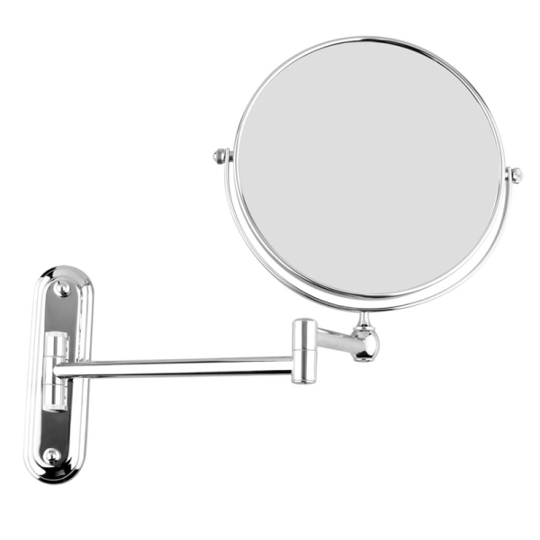 Silver Extending 8 inches cosmetic wall mounted make up mirror shaving bathroom mirror 3x Magnification giá rẻ