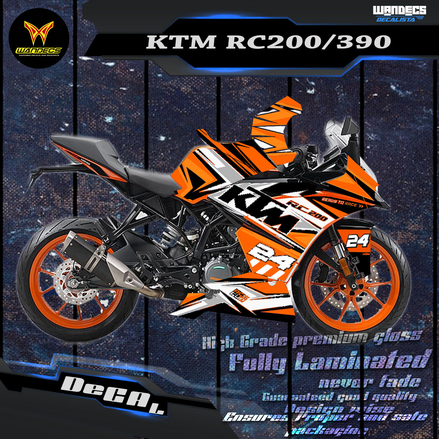 Ktm Rc 200 390 Orange Buy Sell Online Decals Emblems With Cheap Price Lazada Ph