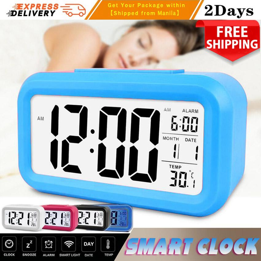 2018 New Led Digital Electronic Alarm Clock Backlight Time With Calendar +  Thermometer Table Digital Alarm Clock Drop Shipping Night Glowing Cube LCD