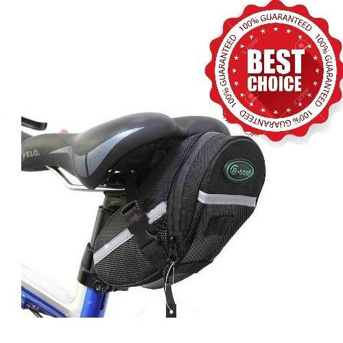 Bicycle Waterproof Saddle Under Seat Stash Bike Tail Bag Acessories 0089 (black) By Emerison Merchandise.