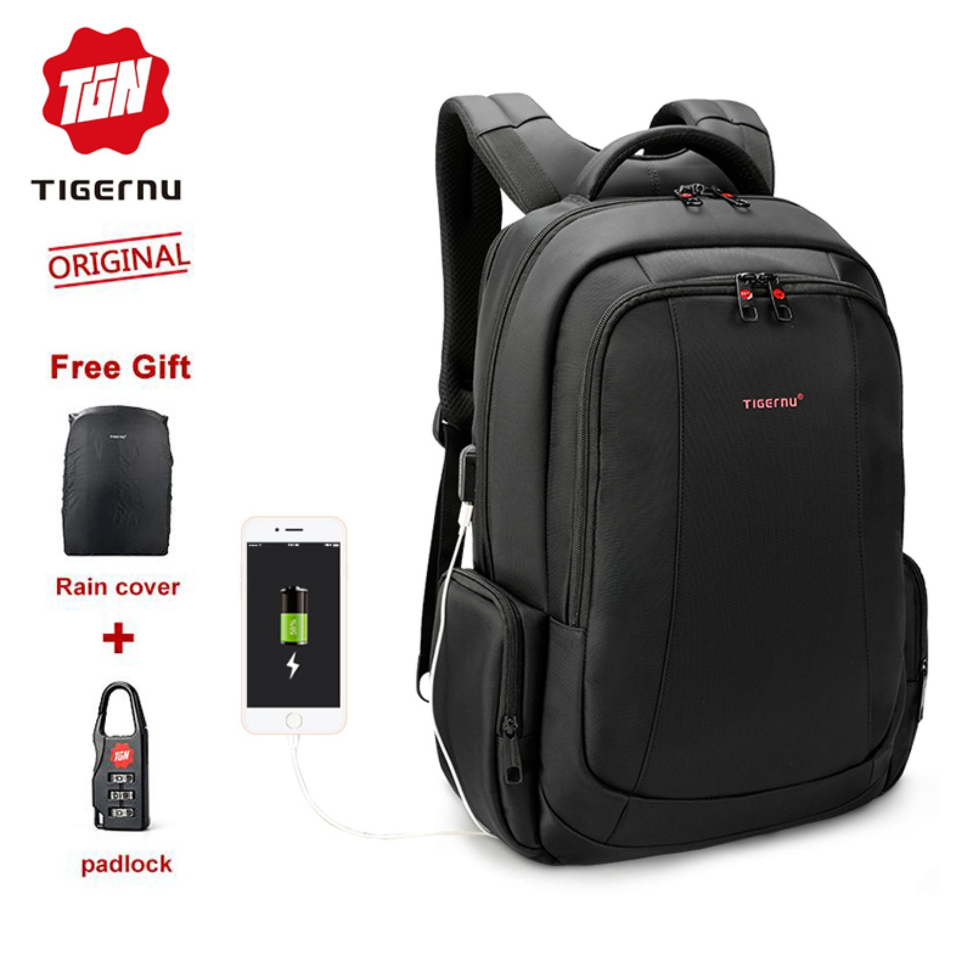 e0ff07305 Tigernu Hot selling Anti-theft waterproof USB Charging Port Laptop Backpack  for 15.6 Inches Travel