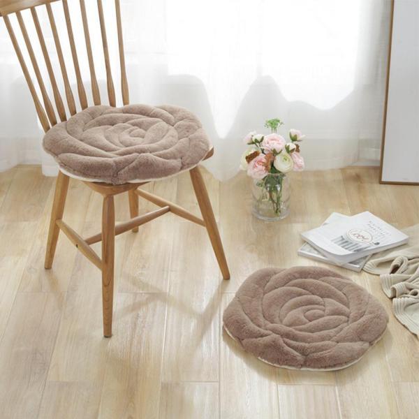 RD 45x45cm Plush Rose Sofa Chair Seat Cushion Tatami Mats Non-slip Cushion