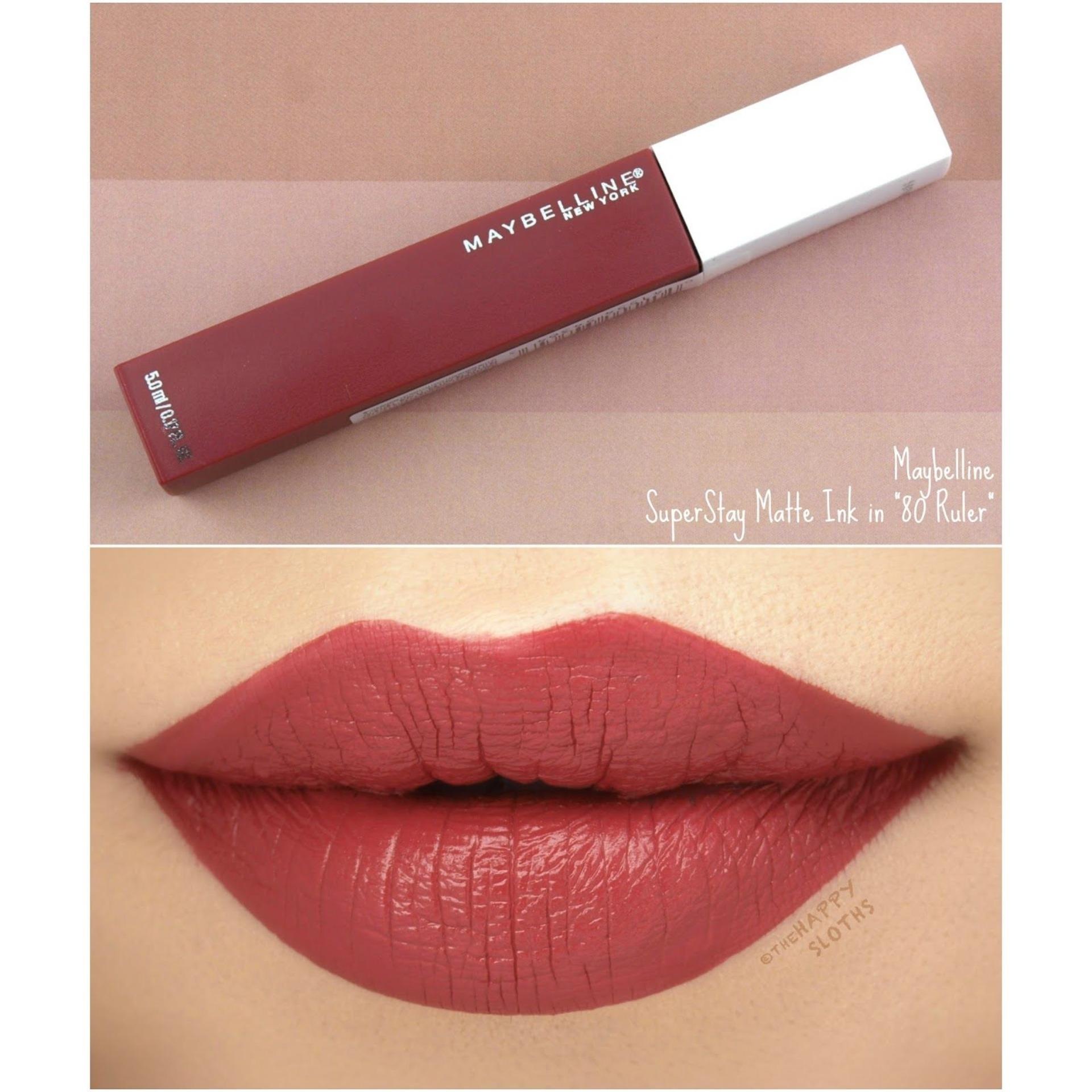 Maybellin e super stay matte ink SuperStay Matte Ink City Edition Liquid  Lipstick [16HR Waterproof] shades No#80
