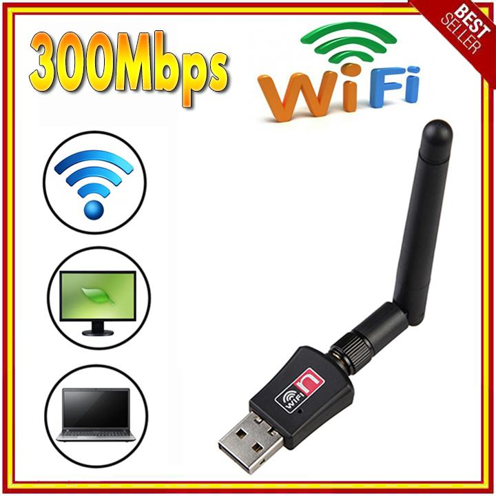 300mbps Usb Wifi Dongle And Wireless Adapter Lan Card 802.11n/g/b With Antenna By Lucky Charm.
