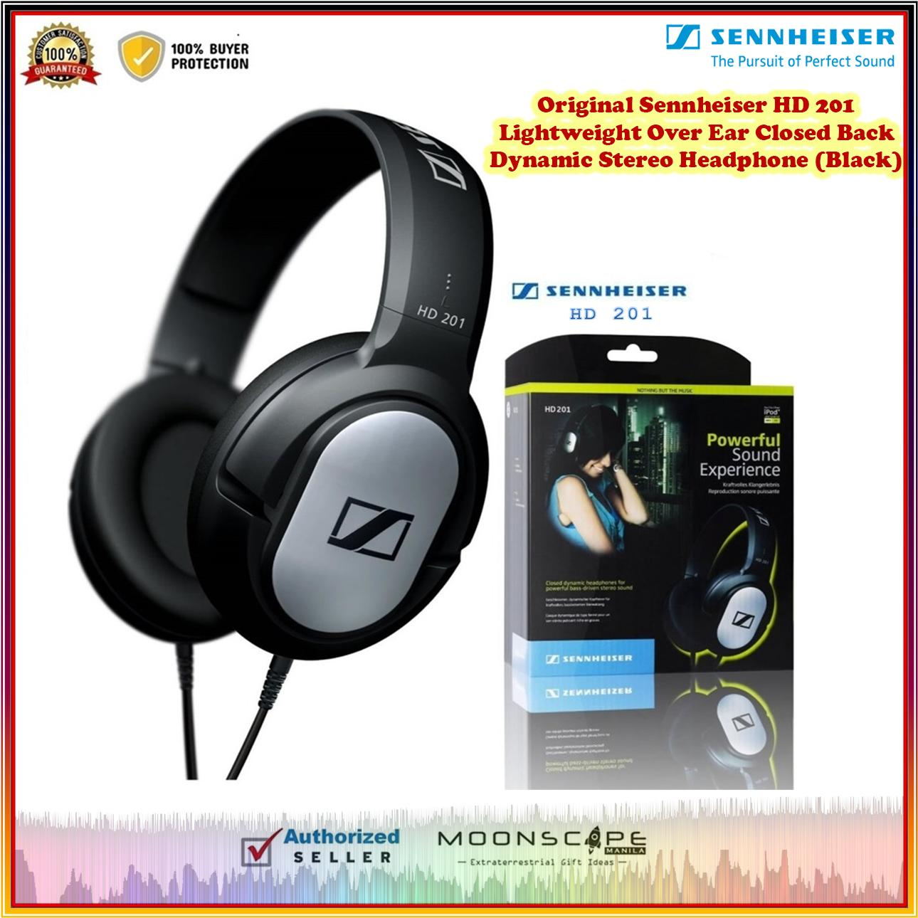 8f2c3d22fdf Original Sennheiser HD 201 Lightweight Over Ear Closed Back Dynamic Stereo  Headphone (Black)