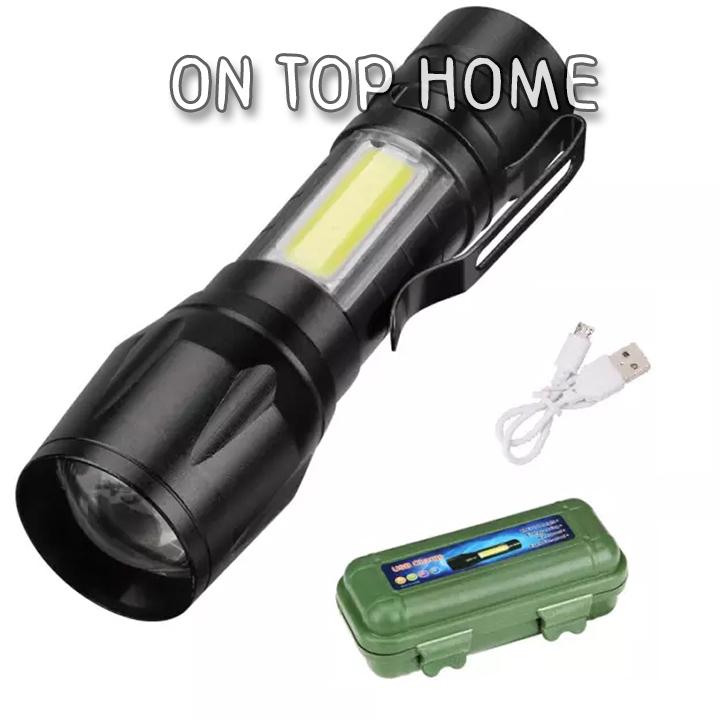 Mini Waterproof Led Rechargeable Flashlight Torch Super Bright Light BatteryPJD