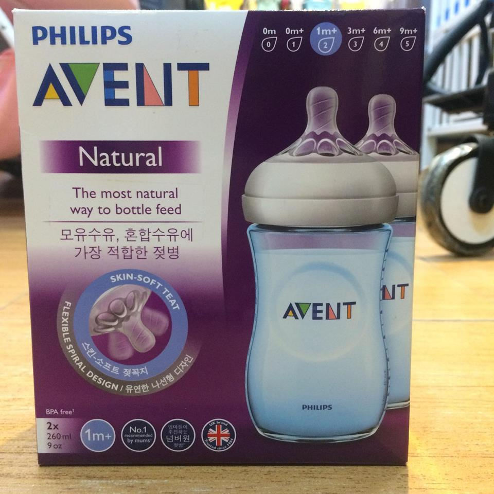 Philips Avent Natural 260ml 9oz 2pack Feeding Bottles - Blue By Cost4less.