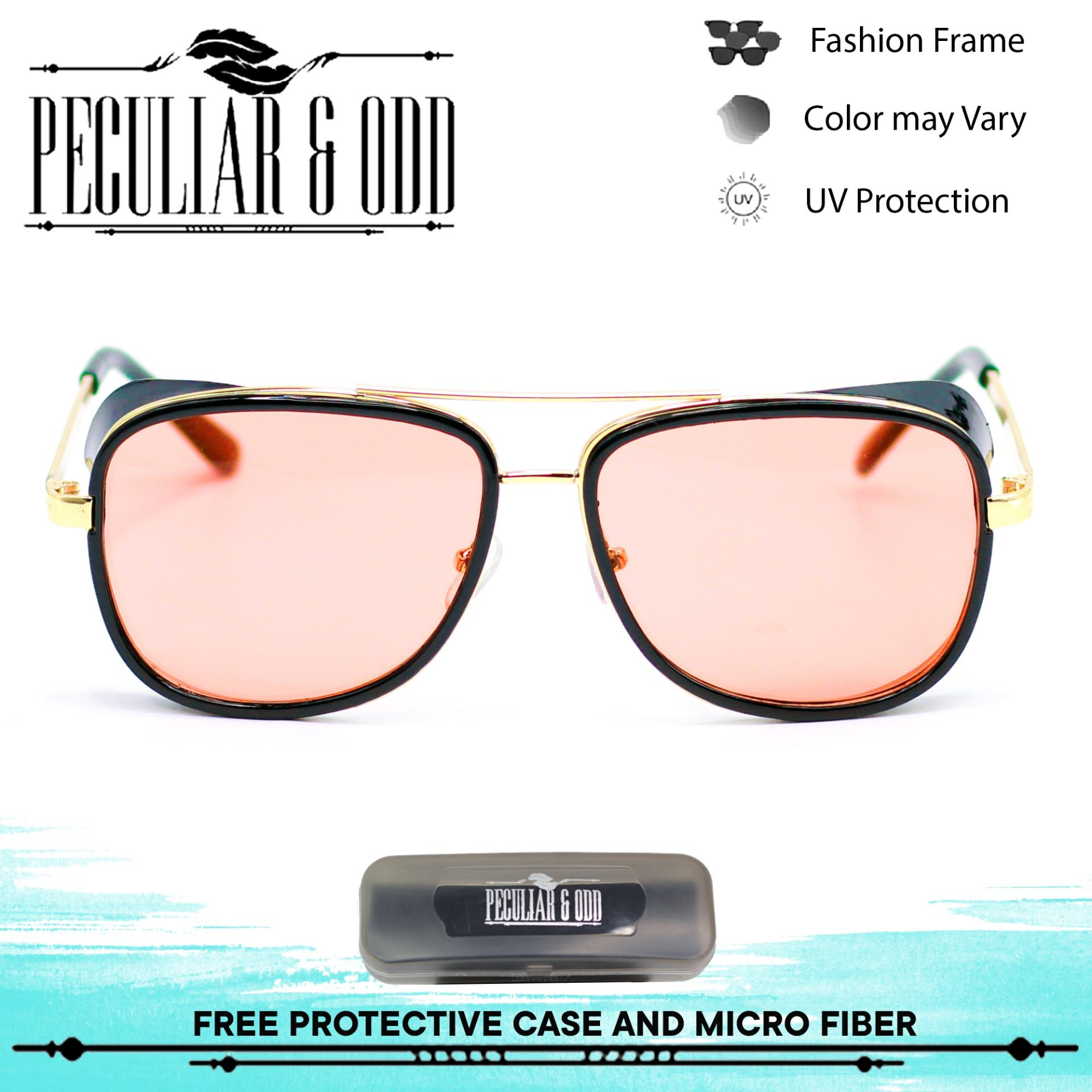 6ccc329db1ea Peculiar 2018 IRON M A N TONY Classic Steampunk Inspired 5643 BlackGoldRed  Steampunk Pilot Vintage Style Sunglasses