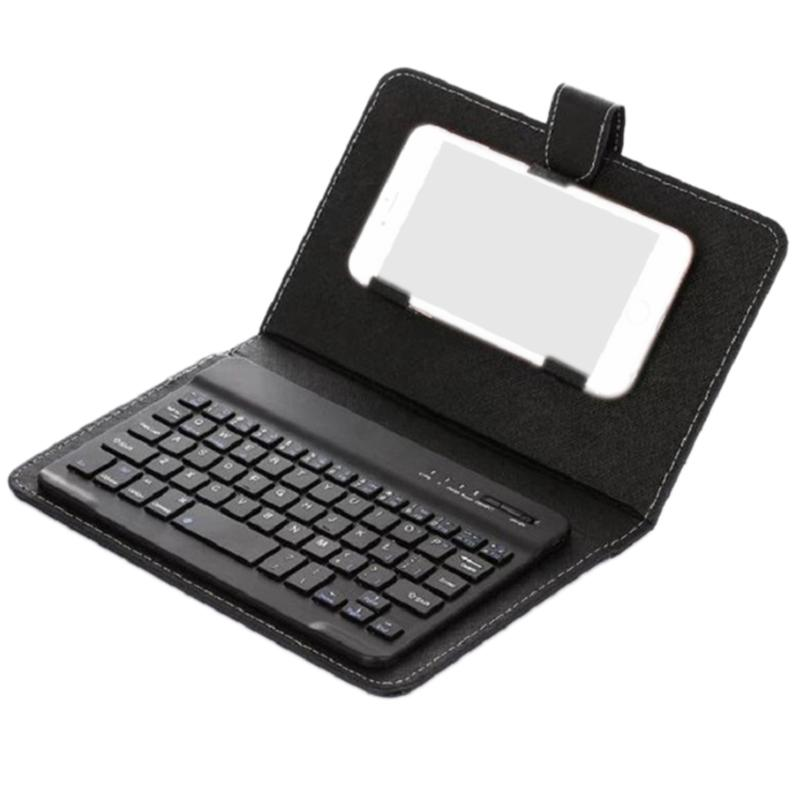 Wireless Bluetooth Mobile Phone Keyboard With Pu Leather Case Mini Wireless Portable Aluminium Laptop Leather Case Malaysia
