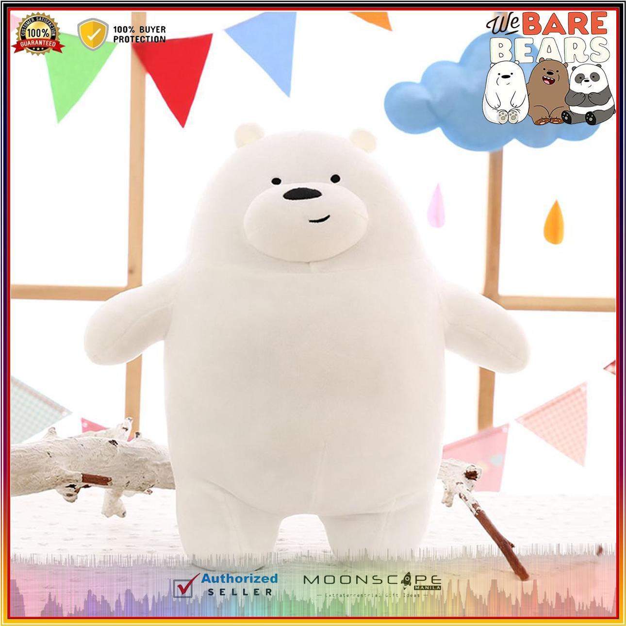 We Bare Bears Collection Stuffed Toys 30CM (Grizzly Bear, Panda Bear, and  Ice Bear)