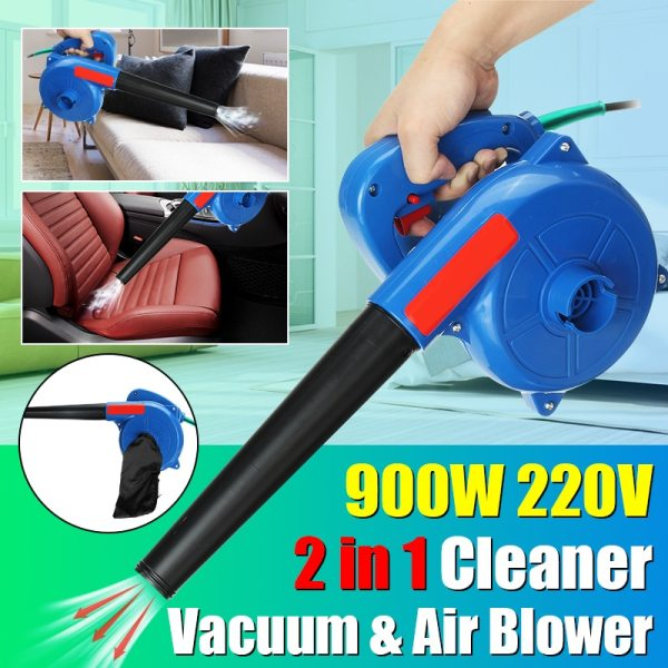 2-in-1 Function 900W 220V Electric Air Blower Handheld Vacuum Cleaning Computer Suck Blow Dust