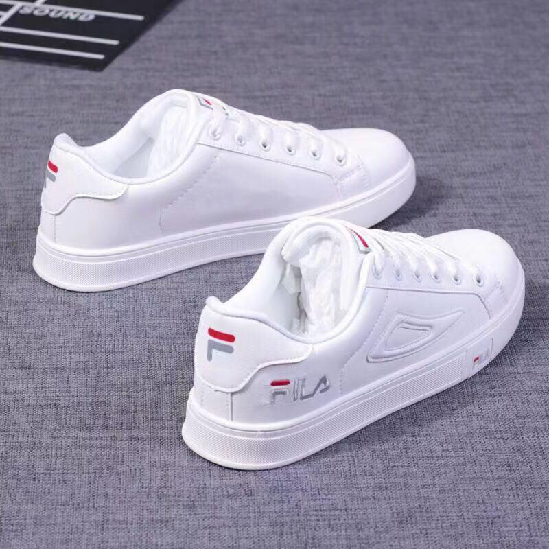 b85bdf44729 Philippines. FILA Korean Sneakers All White Shoes Low Cut SHOES#015-1