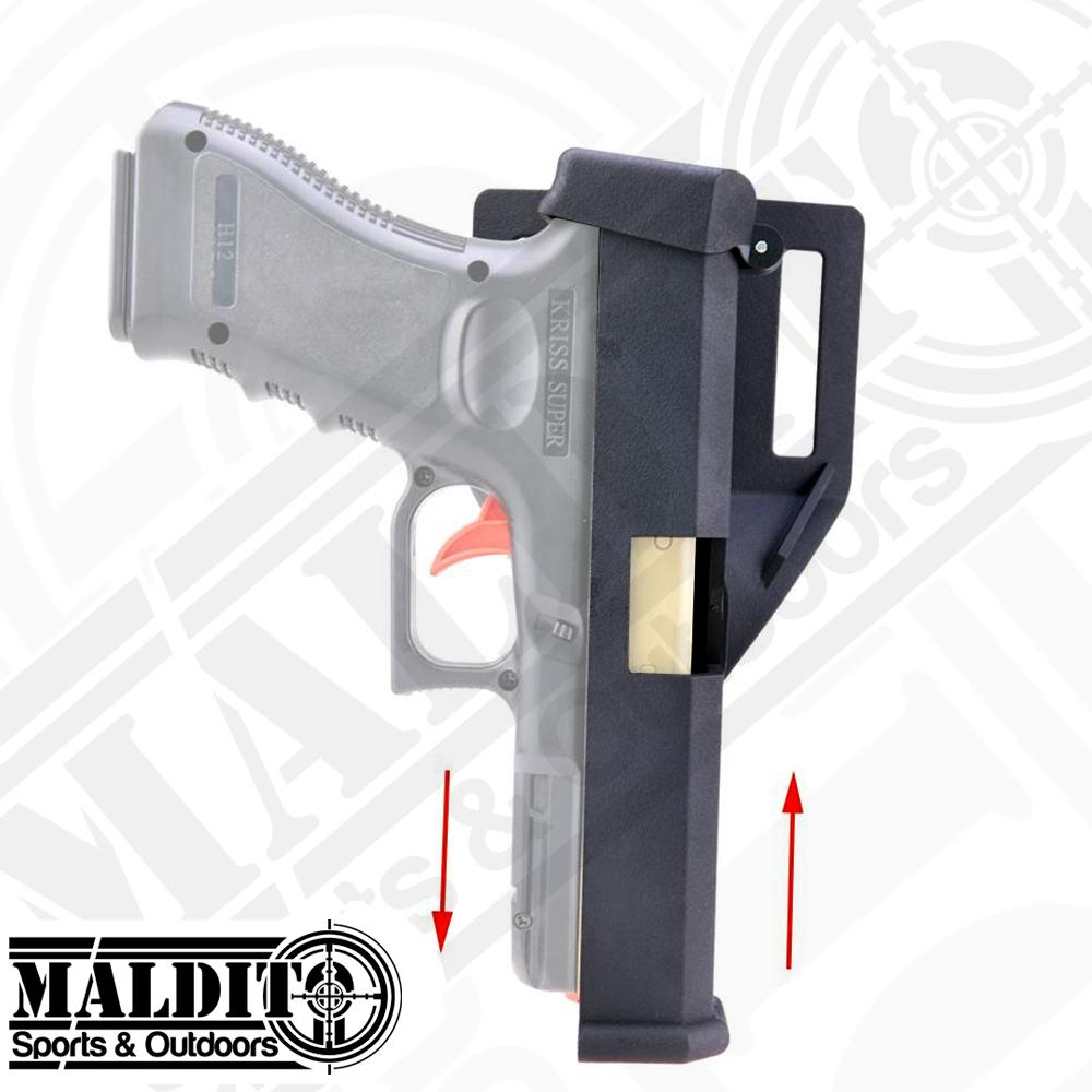 MS053 Quick Reload Automatic Holster w/ Belt Loop for GI0ck 17,18,19,22,23