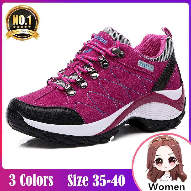 adc9ce03c0 Outdoor Hiking Shoes For Women On Sale Suede Korean Sneakers Shoes For Women  Sale Platform Wedge