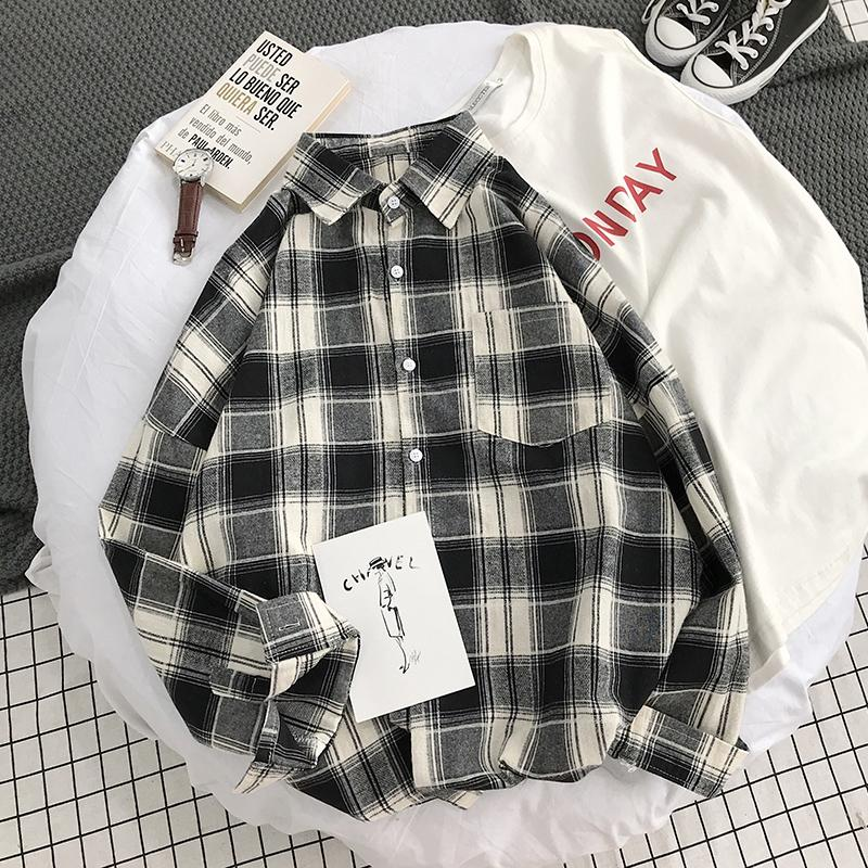 e44cd64039b210 Hong Kong Style Shirt women CHIC Spring Clothing 2019 New Style Loose  Vintage Laziness Wind Students